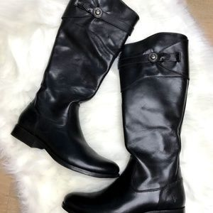 New Frye Molly Button Tall Leather Riding Boots